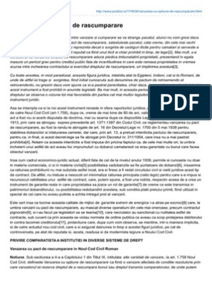 Model de pact de opţiune (de vânzare)   Modele de contracte, cereri, acţiuni si alte acte