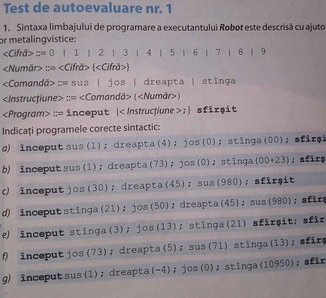 în ce limbaje de programare sunt folosiți roboți comerciali scrise