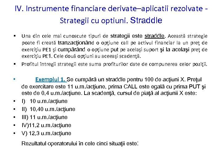 opțiuni și active financiare