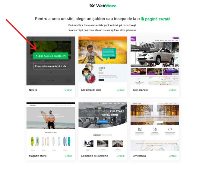 creați un site oficial