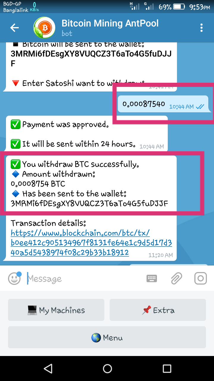 telegramă bot bitcoin