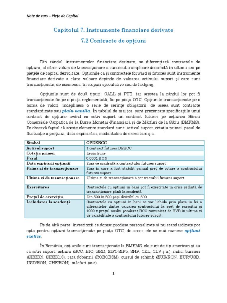 contract de opțiune de acțiuni